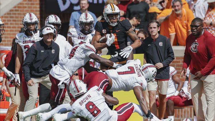 Carolina falls to Tennessee 45-20