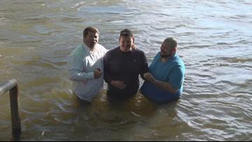 Easter Sunrise Service, baptism brings dozens to local park