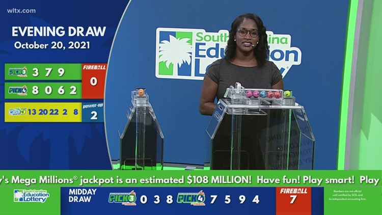 Evening lottery results for October 20  2021