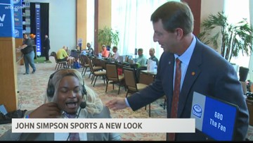 John Simpson takes on a new look in Charlotte