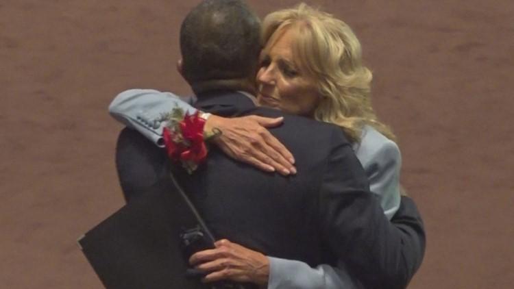 Jill Biden surprises South Carolina church family that helped restore her faith years earlier