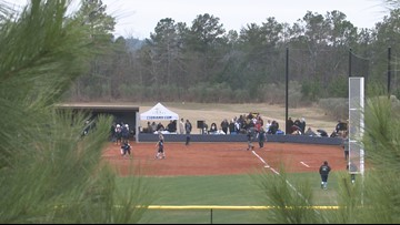 Columbia International University hosts first softball game
