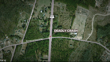 Driver dies in single-car crash in Kershaw County