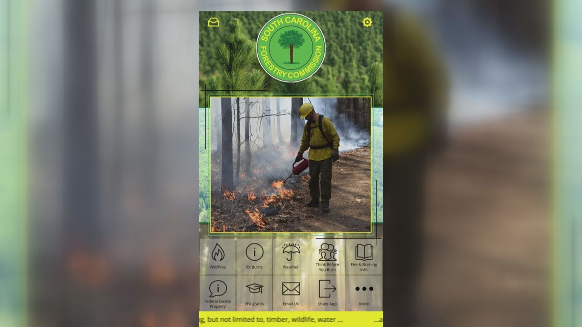 Smell smoke outside? Use the new SC Forestry Commission app to see if you should be worried