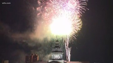 New Year's Eve fireworks show in Columbia, SC