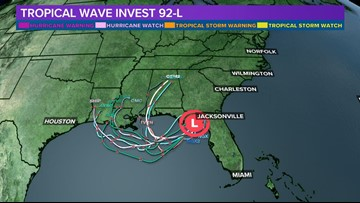 Tropical disturbance enters the Gulf of Mexico