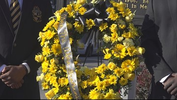 Wreath placed on Martin Luther King Jr. Historic Marker in Columbia