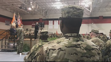 'Monumental moment,' Soldiers say goodbye to families before deploying overseas