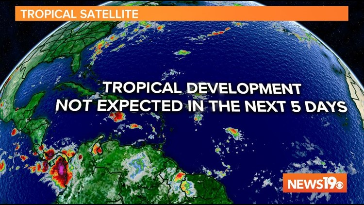 Tropical Development Not Expected