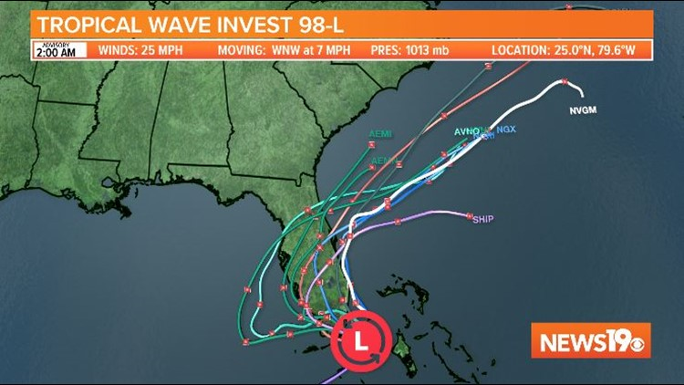 Chances increasing of a tropical system off the Southeast