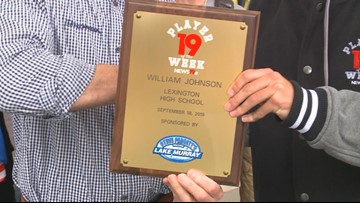 William Johnson is the News19 Player of the Week