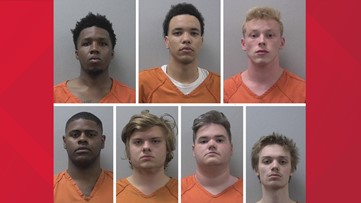Seven arrested in armed robbery, mob assault in Lexington