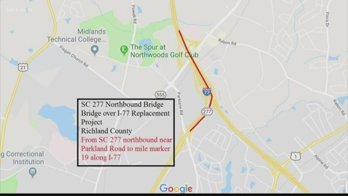 Bridge replacement brings night time lane closures to SC-277 this week