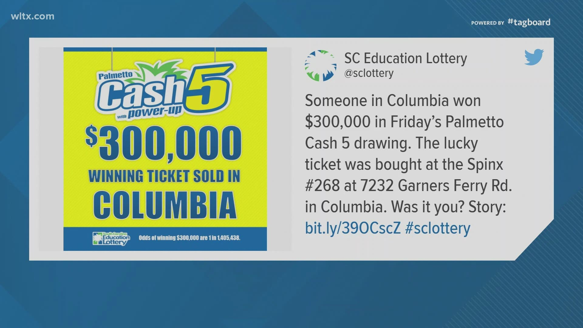 Cash 5 Lottery Ticket Worth 300 000 Bought In Columbia Wltx Com