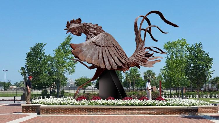 south carolina gamecocks statue