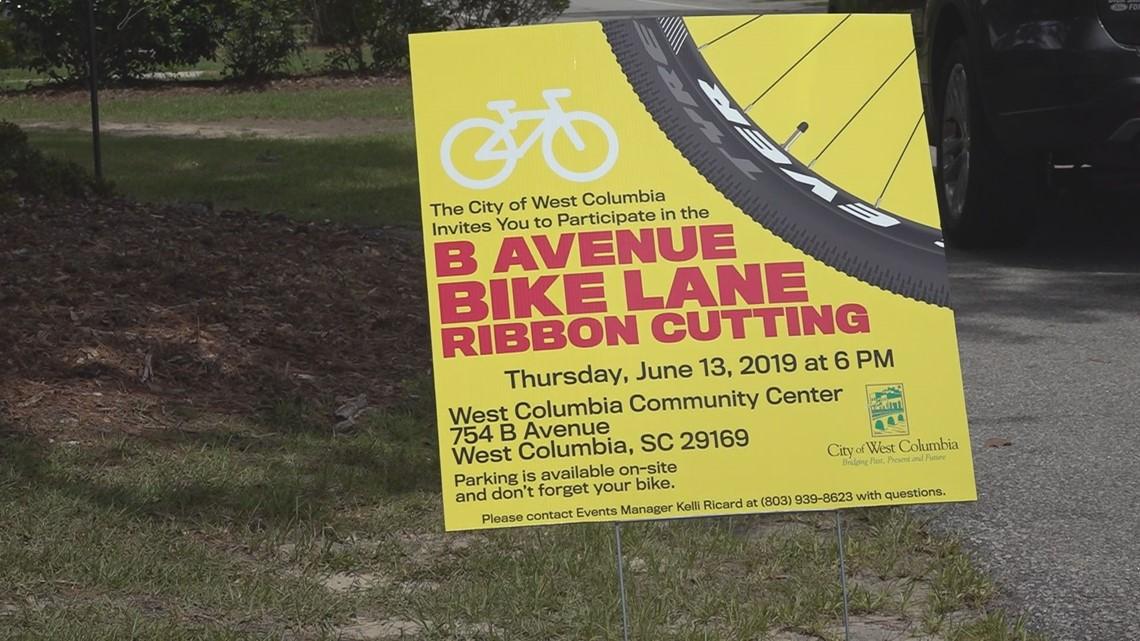Ribbon cutting for West Columbia bike lane