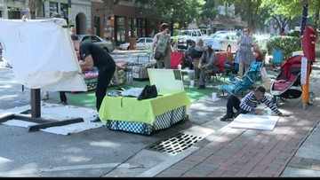 Parking Day converts Columbia's parking spots into parks