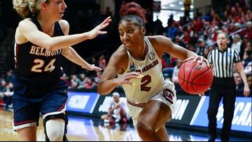 Cooper, South Carolina roll past Belmont in women's NCAAs