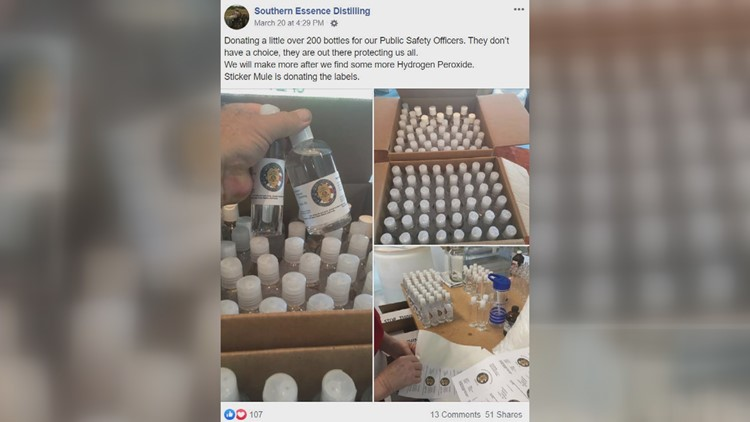 Southern Essence Distilling Facebook Post Hand Sanitizer