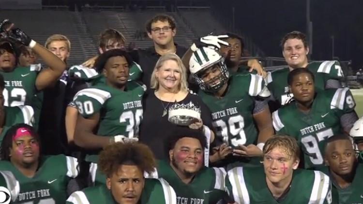 Dutch Fork high school crowns beloved football player Jack Alkhatib homecoming king