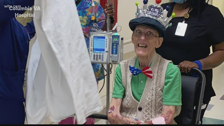 WWII veteran celebrates turning 101-years-old in Columbia