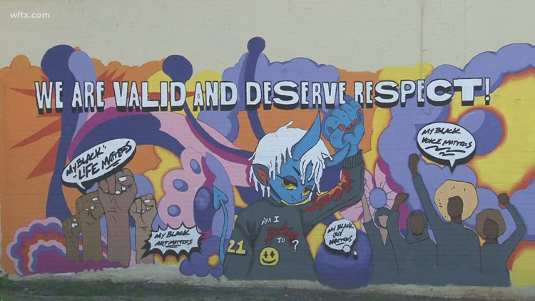 Mural unveiled on North Main Street in Columbia