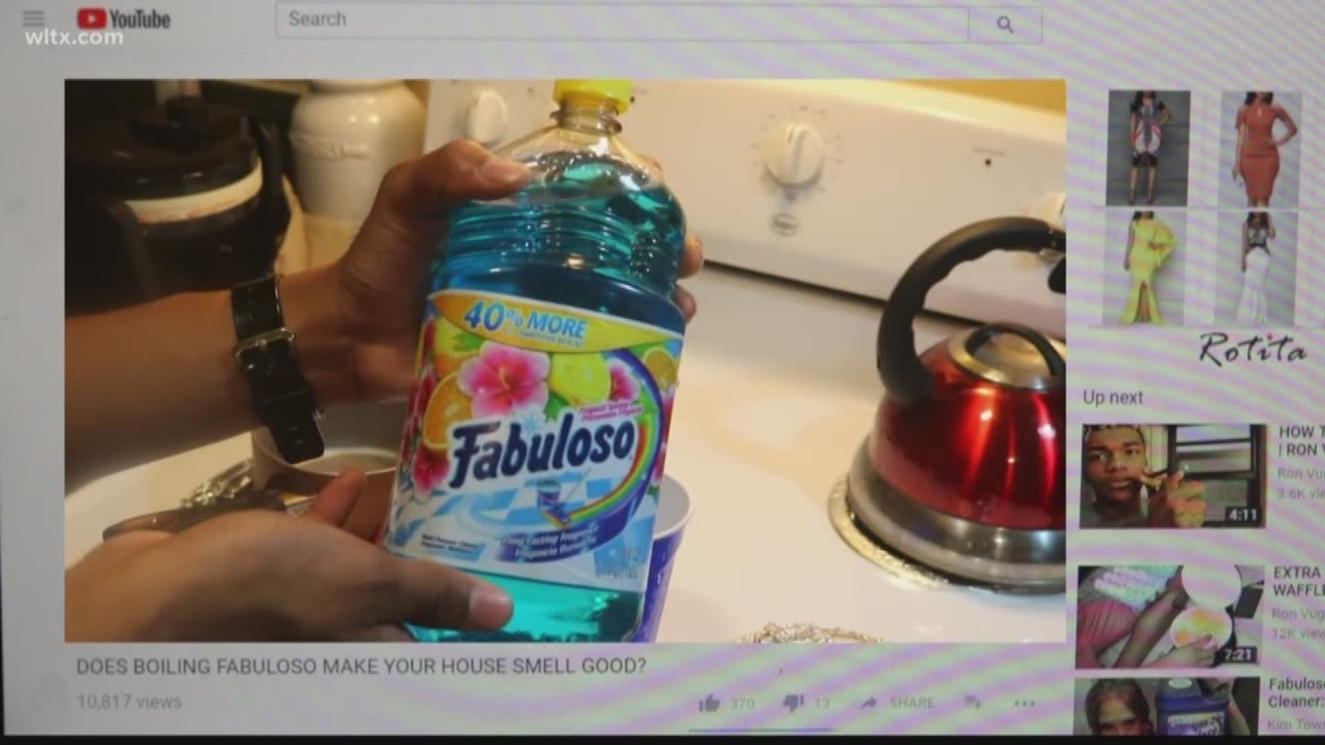 Is Boiling Fabuloso On The Stove