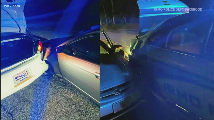 Irmo officers narrowly escape injury when suspected DUI driver slams into patrol car
