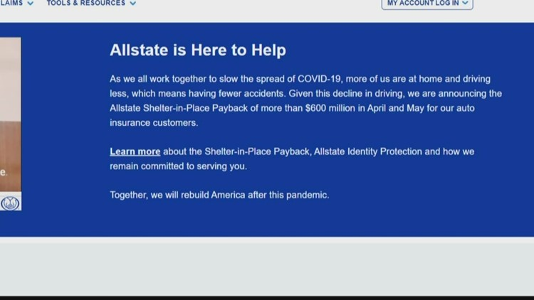 Allstate providing shelter-in-place payback, payment relief to auto insurance customers, free identity protection to all