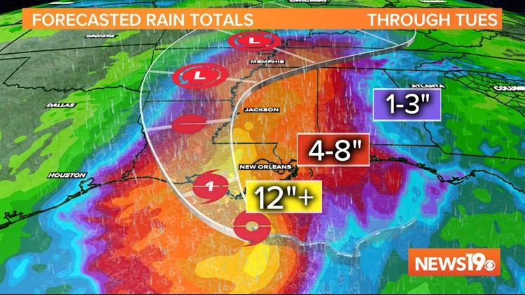 Barry Rain Totals