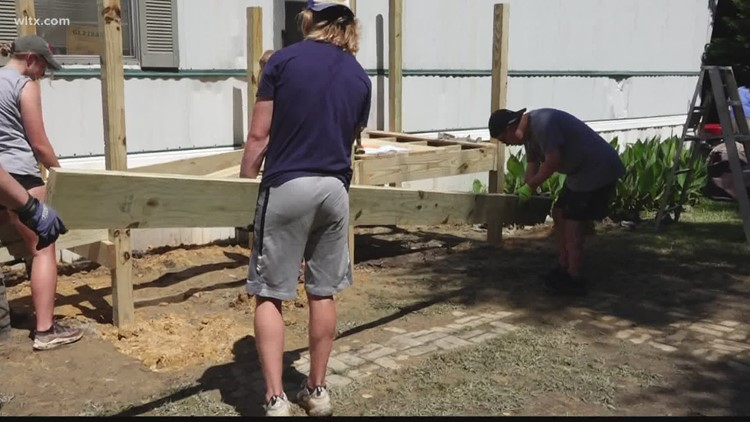 Church and mission groups reparing homes in Lexington County