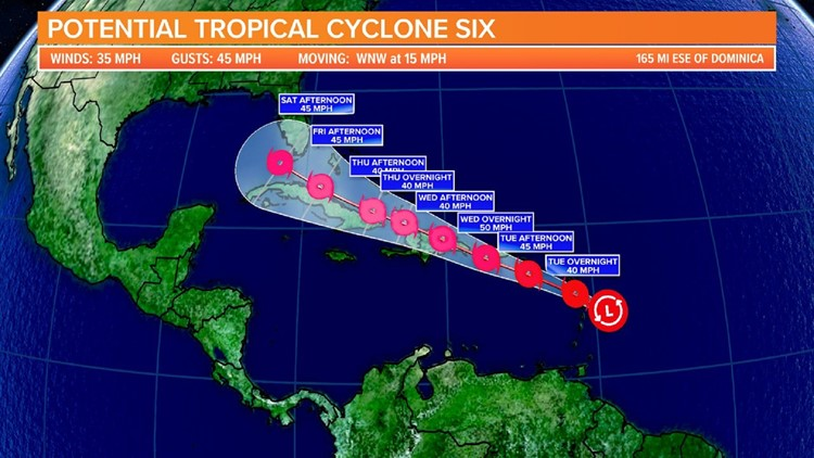 Potential Tropical Cyclone 6 forms, expected to become Tropical Storm Fred