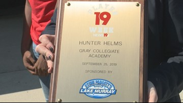 Hunter Helms is the News19 Player of the Week