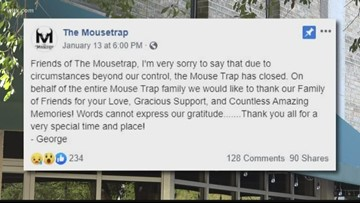 The Mousetrap restaurant closes its doors