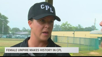 First female umpire in CPL history works the Blowfish-Bacon game