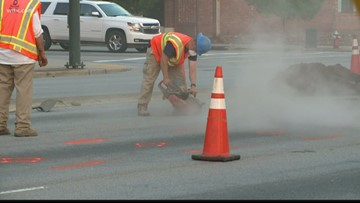 Columbia Water closes part of Huger Street