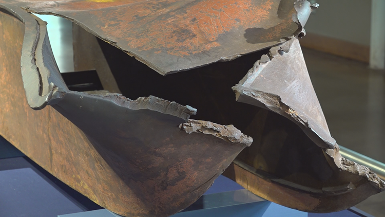 'It's very surreal': Steel from World Trade Center on display in Columbia
