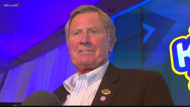 Spurrier shows up at SEC Media Days