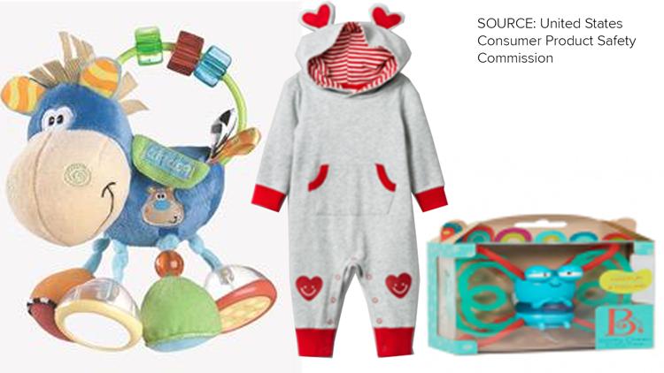 Infant toys at Target, Walmart recalled for potential choking hazards