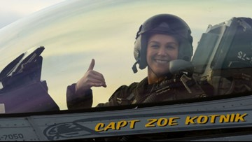 This record-breaking F-16 pilot is a real-life version of Captain Marvel