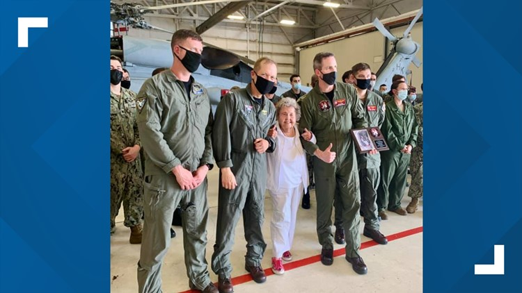 Florida Navy widow flies in helicopter to celebrate 100th birthday