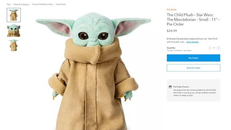 Disney Baby Yoda plush