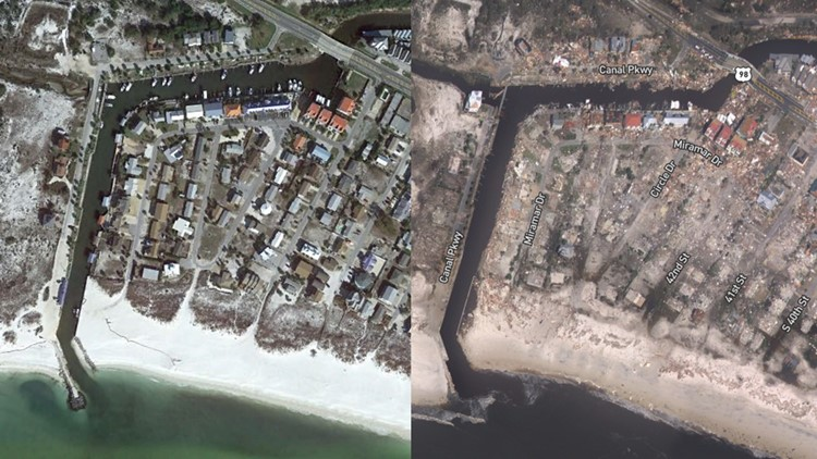 Aerial Images Of Hurricane Michael