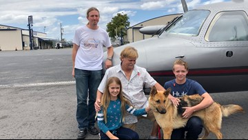 Stolen dog reunited with Florida family after almost 2 years