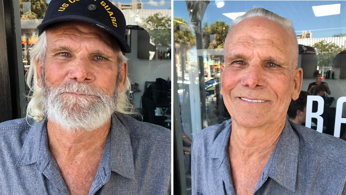 Veteran fulfills haircut promise by walking unassisted into barbershop