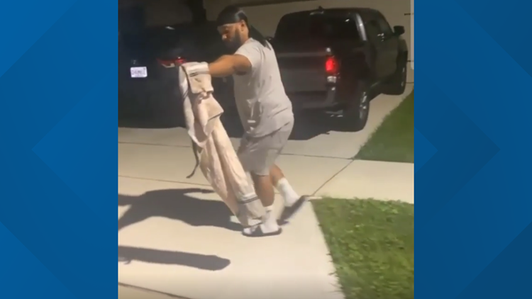 Florida man who went viral for trapping alligator with trash can catches large snake