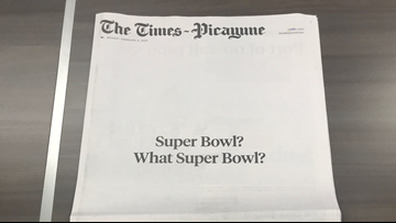 New Orleans newspaper trolls Super Bowl with hilarious headline