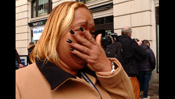 Furloughed workers in tears as they line up for free sandwiches from celebrity chef Jose Andres