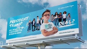 Teen challenges President Trump to go vegan for a month