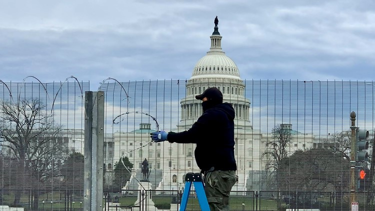Barbed wire fence at the Capitol is coming down. But its razor wire will move closer to Congress.
